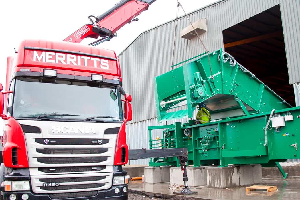 Baler Installation   Merritts Heavy Machinery Movers